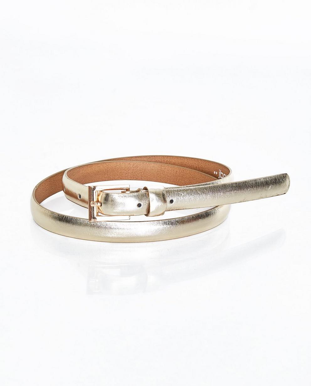 Fine ceinture dorée - revêtement brillant - JBC